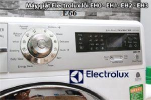 Sửa máy giặt Electrolux báo lỗi E66